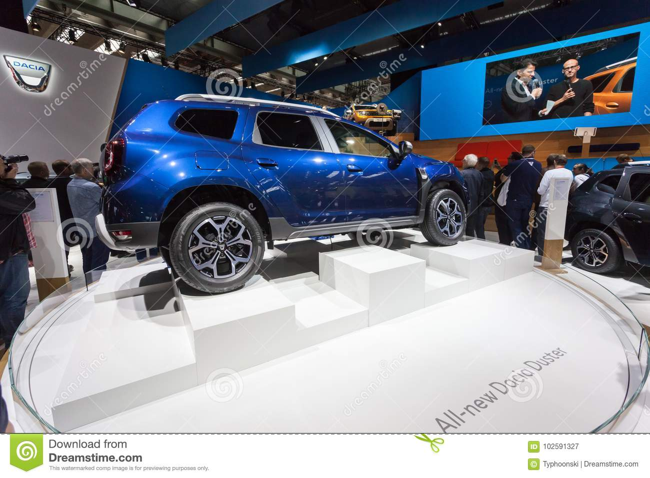 New Dacia Duster At The Iaa 2017 Editorial Photography Image Of