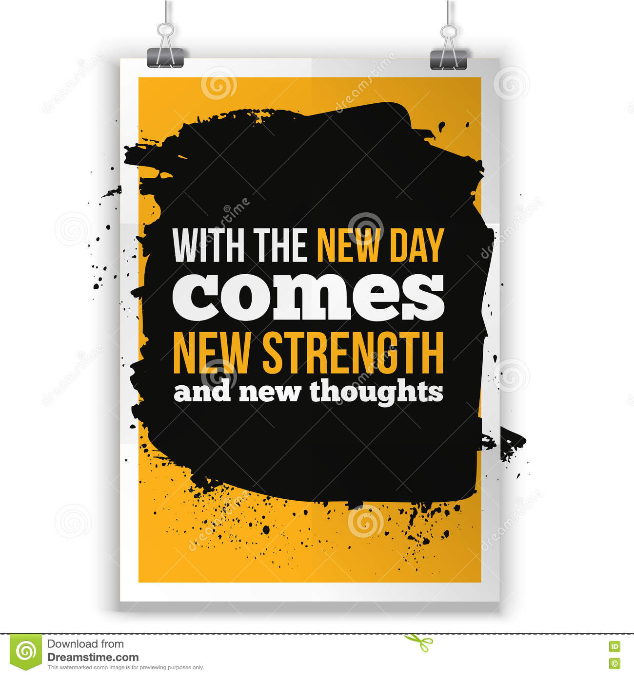 With The New Day Comes New Strength Inspirational Quote About Life