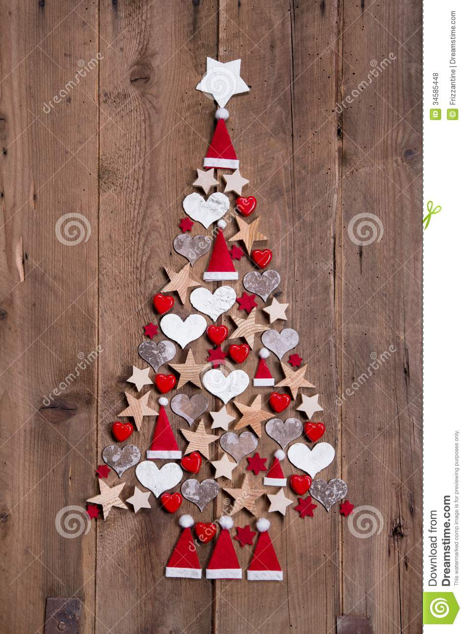 new design for a christmas tree red and white decoration stock