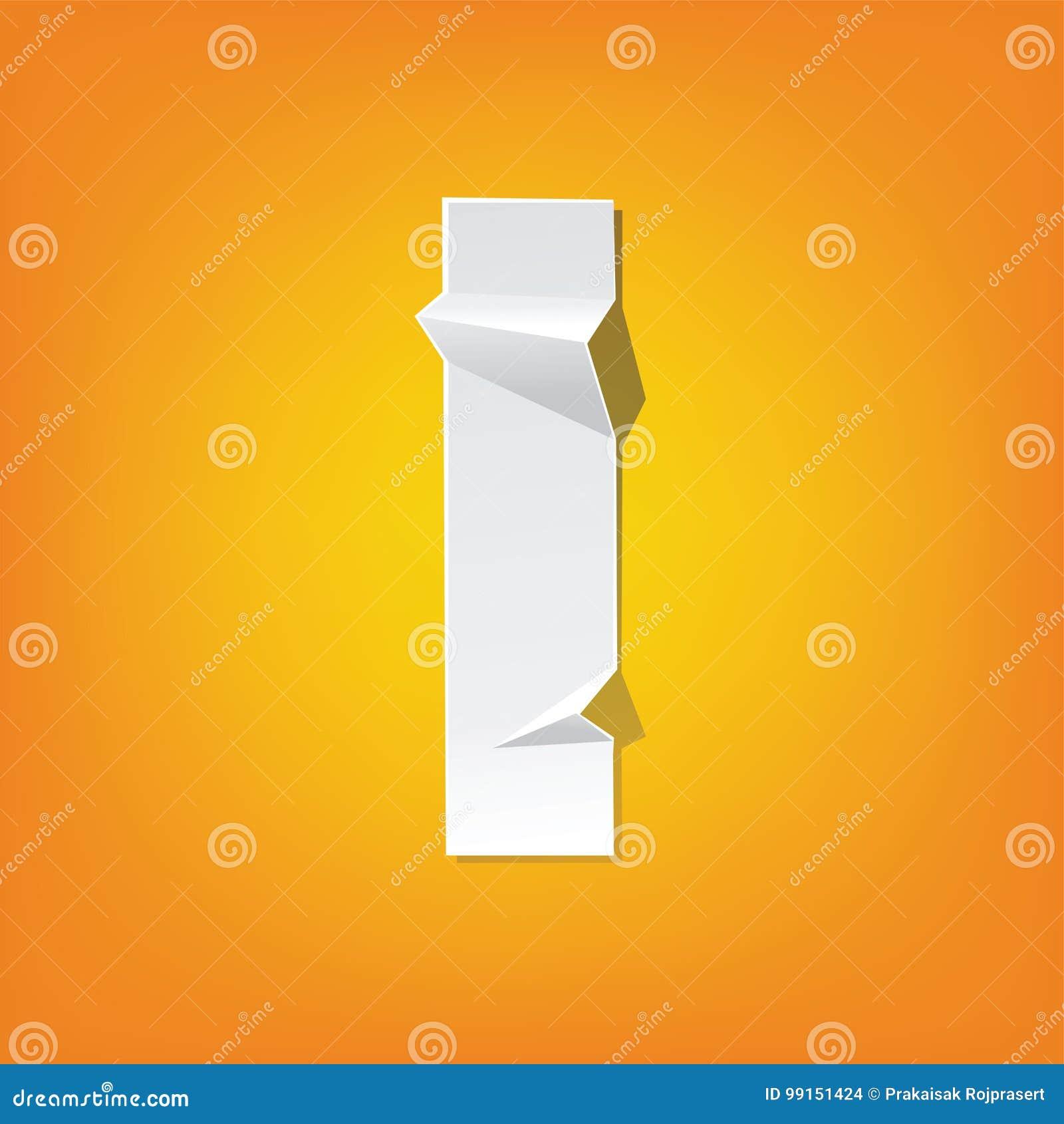 L Lowercase Letter Fold English Alphabet New Design Stock