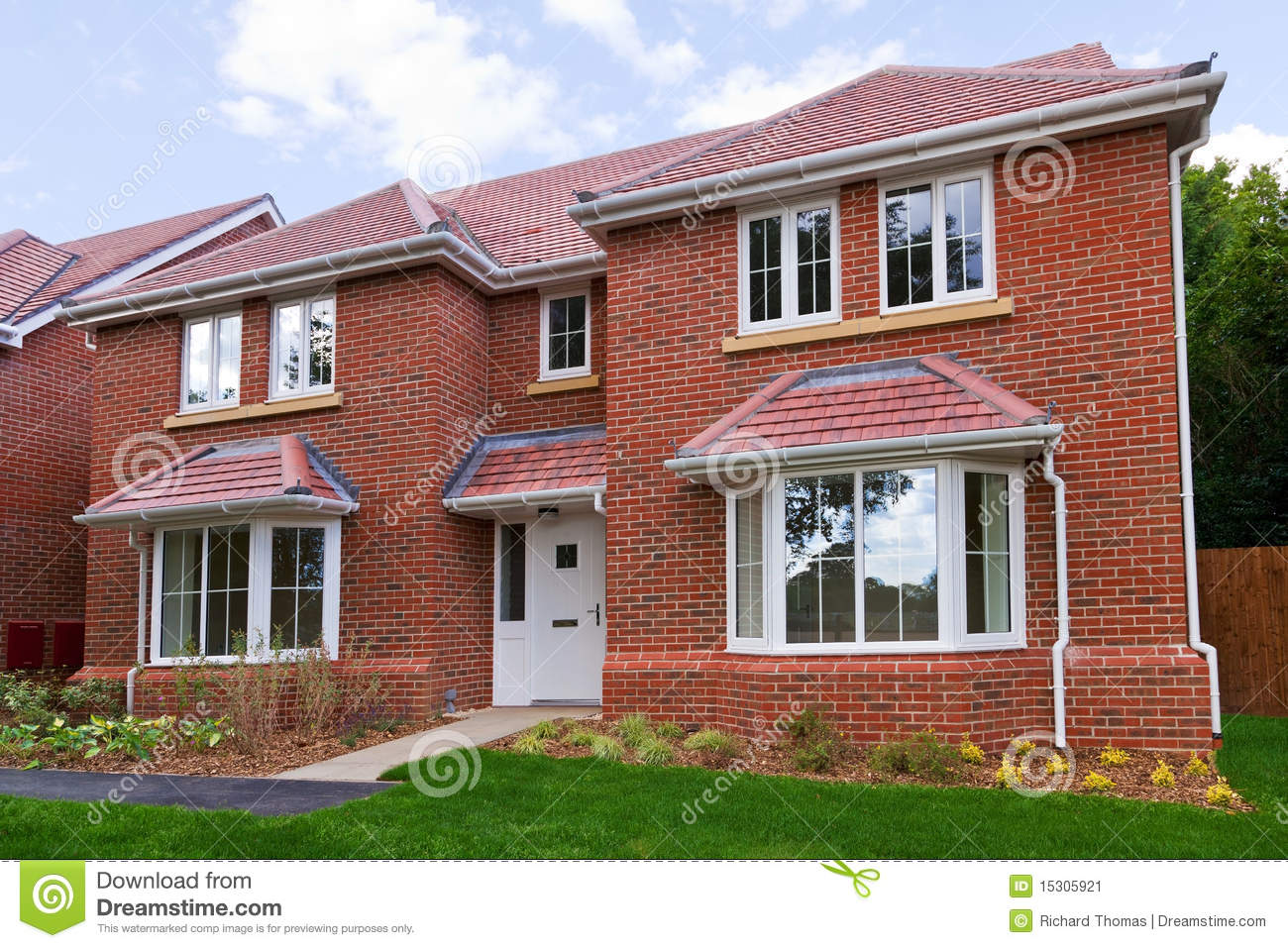 New detached brick built house stock image image 15305921 for New brick homes