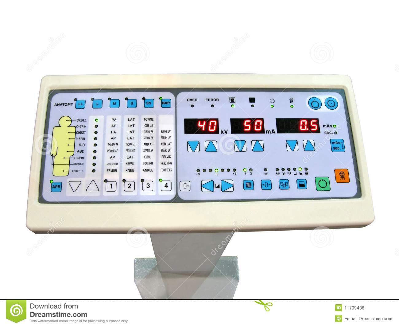 Digital Control Panel : New digital control panel anatomy patient test royalty