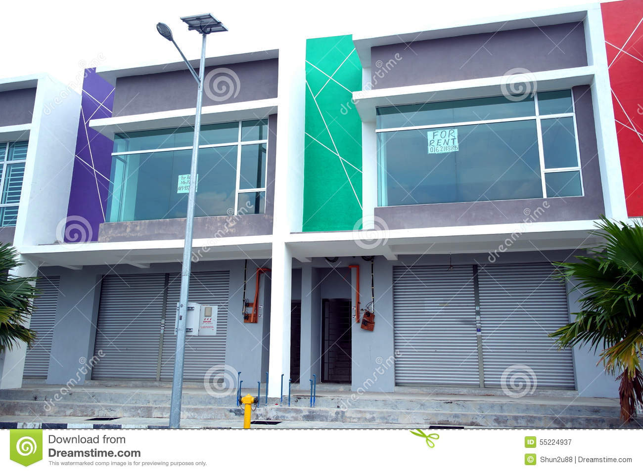 New double storey commercial building stock image image for Commercial building architect