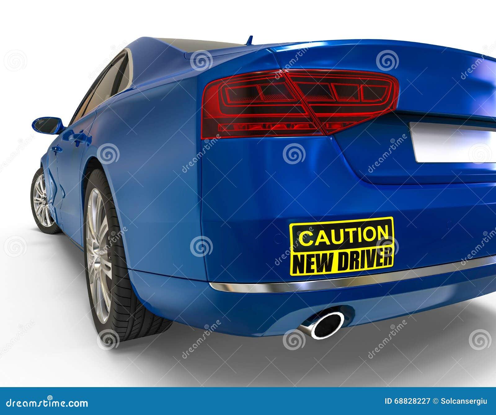 Car sticker design download - New Driver Bumper Sticker Concept