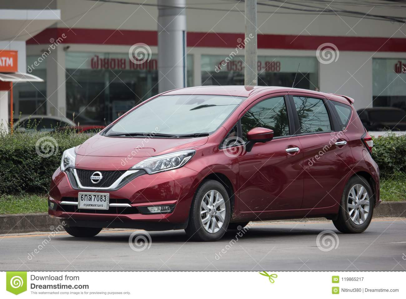 new eco car nissan note. editorial photography. image of note