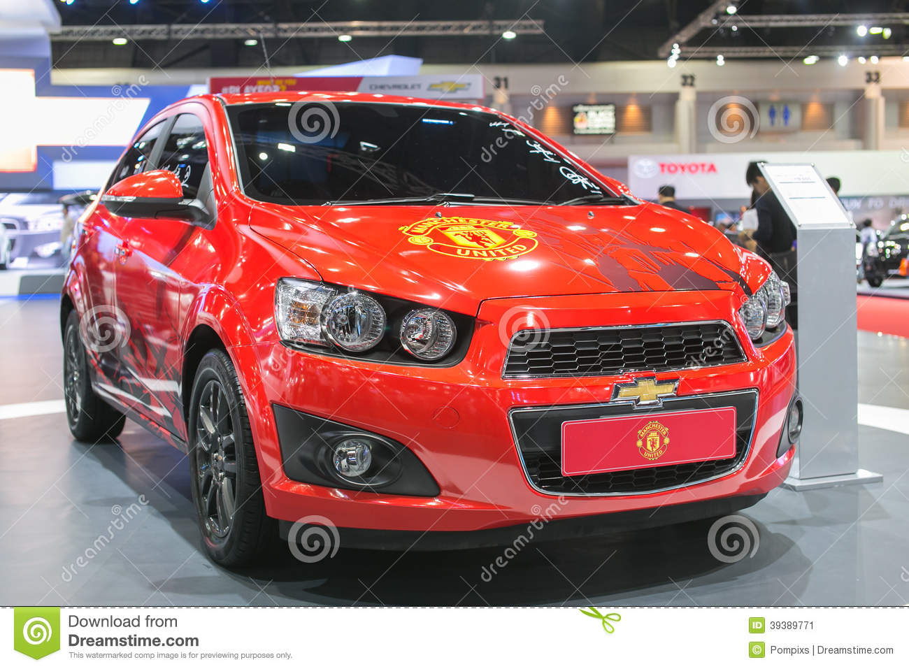 New Edition Of Manchester United Car Of Chevrolet At The