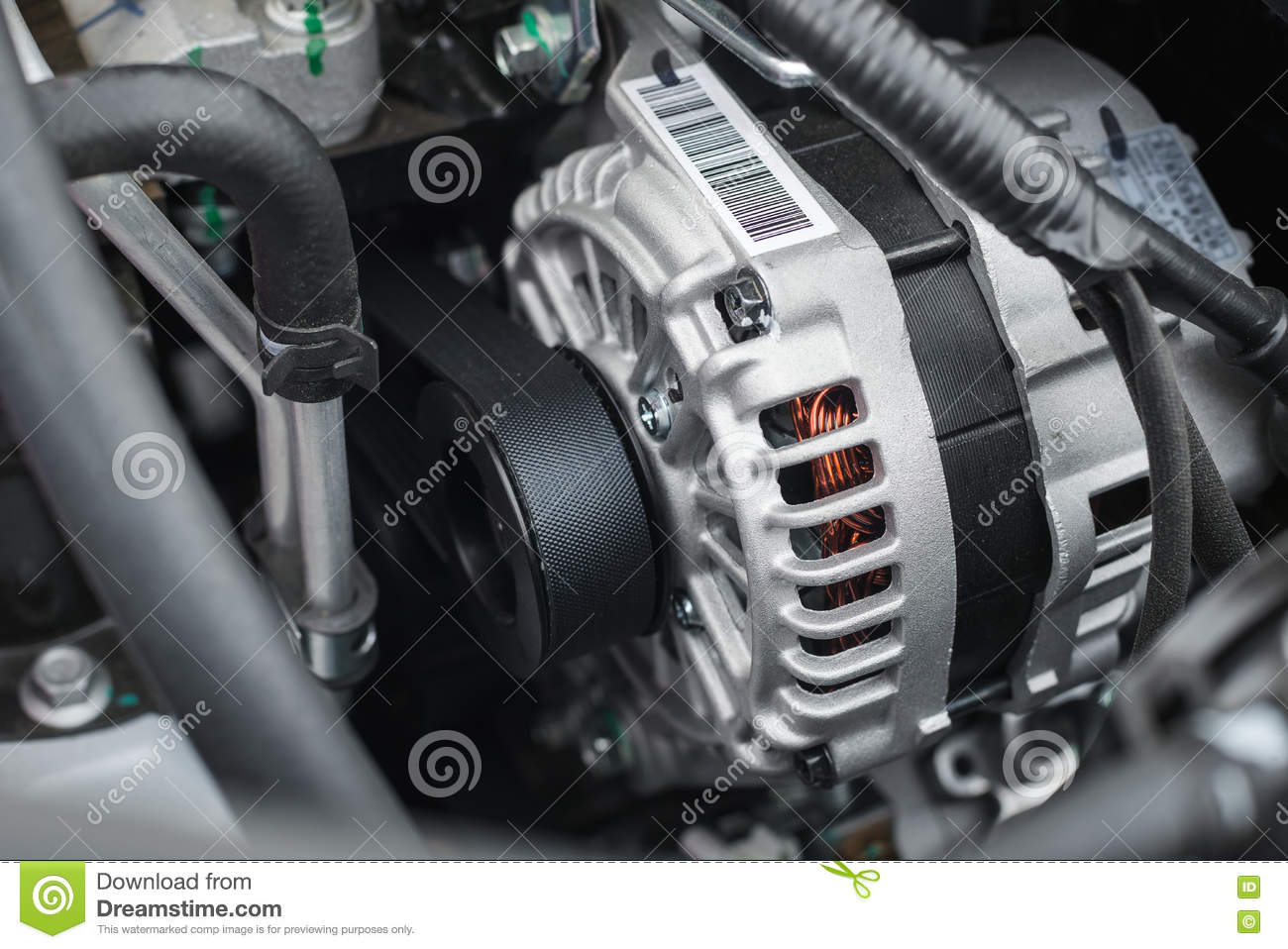 New Electric Car Alternator Stock Photo Image Of Charging