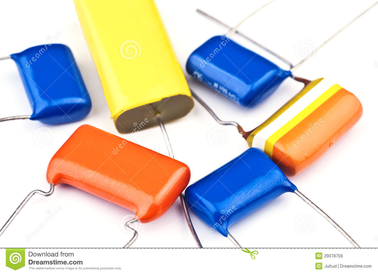 New Electronic Capacitor Group Stock Image Of Many Micro Role Capacitors In Circuit