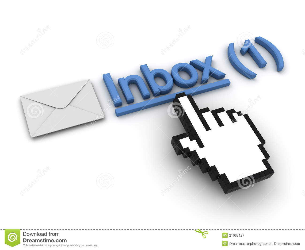 New Email Message In The Inbox Royalty Free Stock ...
