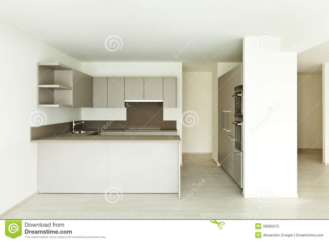 Empty Kitchen Wall New Empty Apartment Kitchen Royalty Free Stock Photo Image