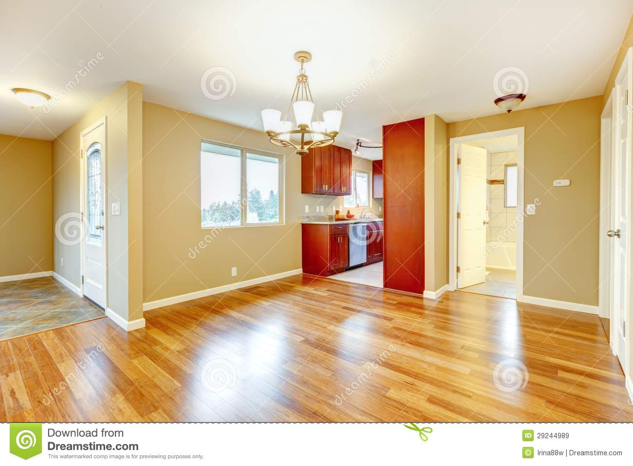 42 Best Images About Dream Dining Rooms And Kitchens On: New Empty Dining Room And Kitchen Interior. Stock Image