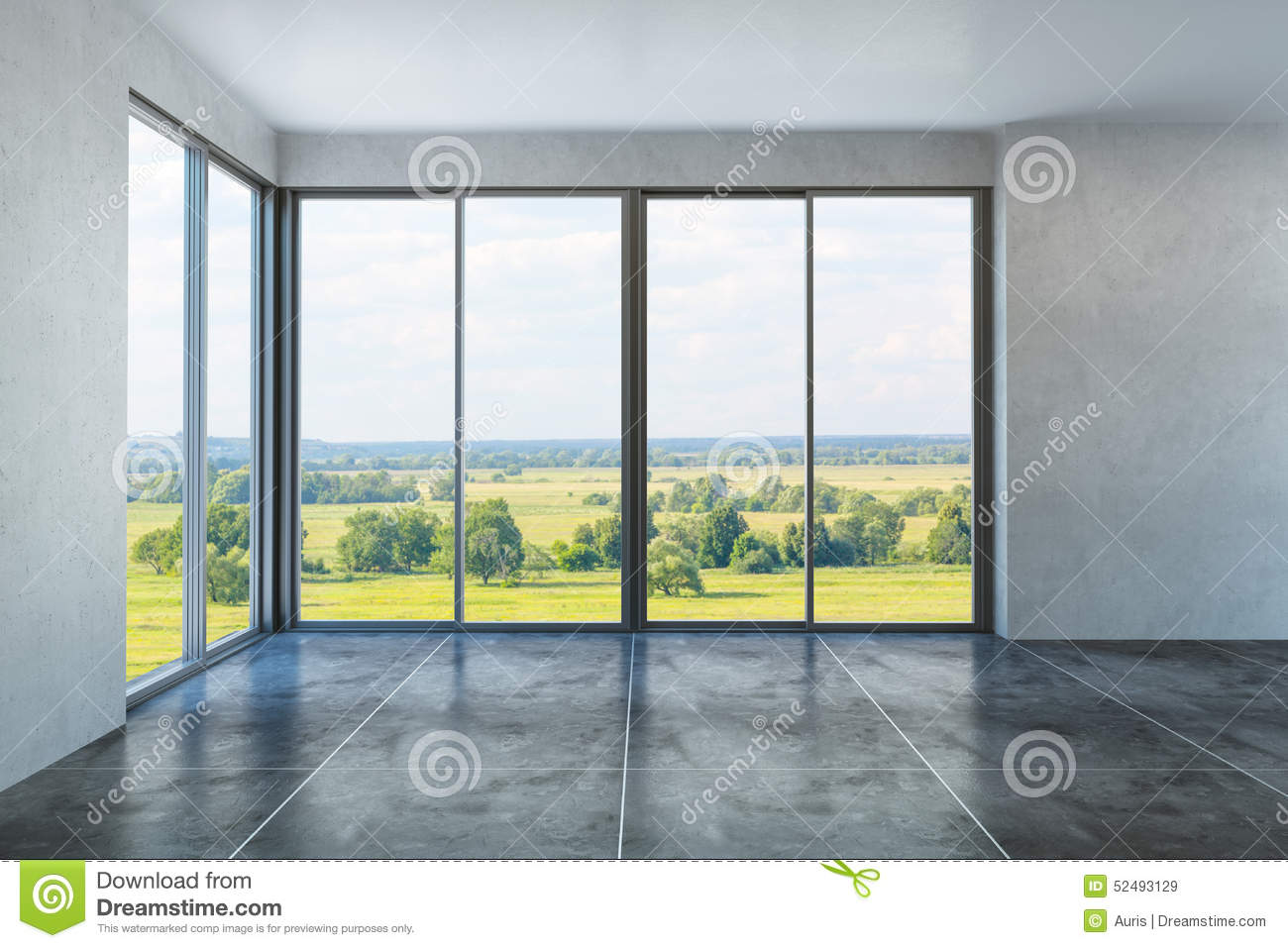 New Emty Office Room Stock Photo Image 52493129