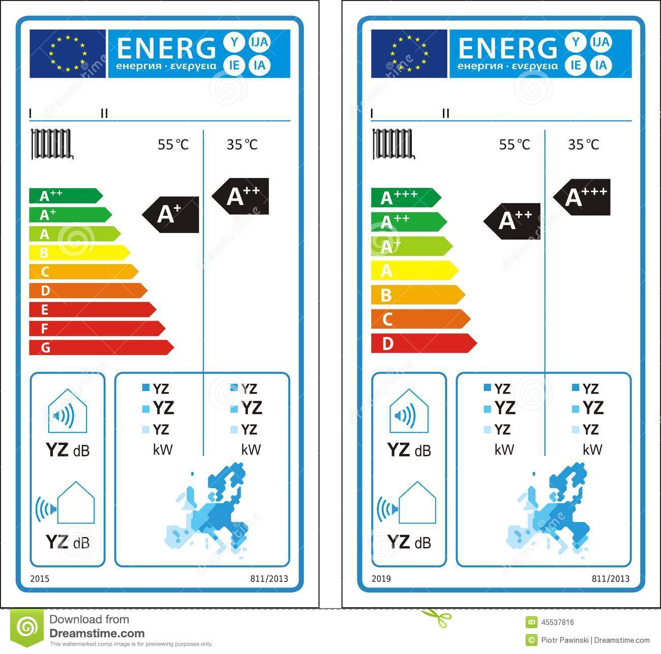 New Energy Rating Graph Label Stock Photo Image 45537816