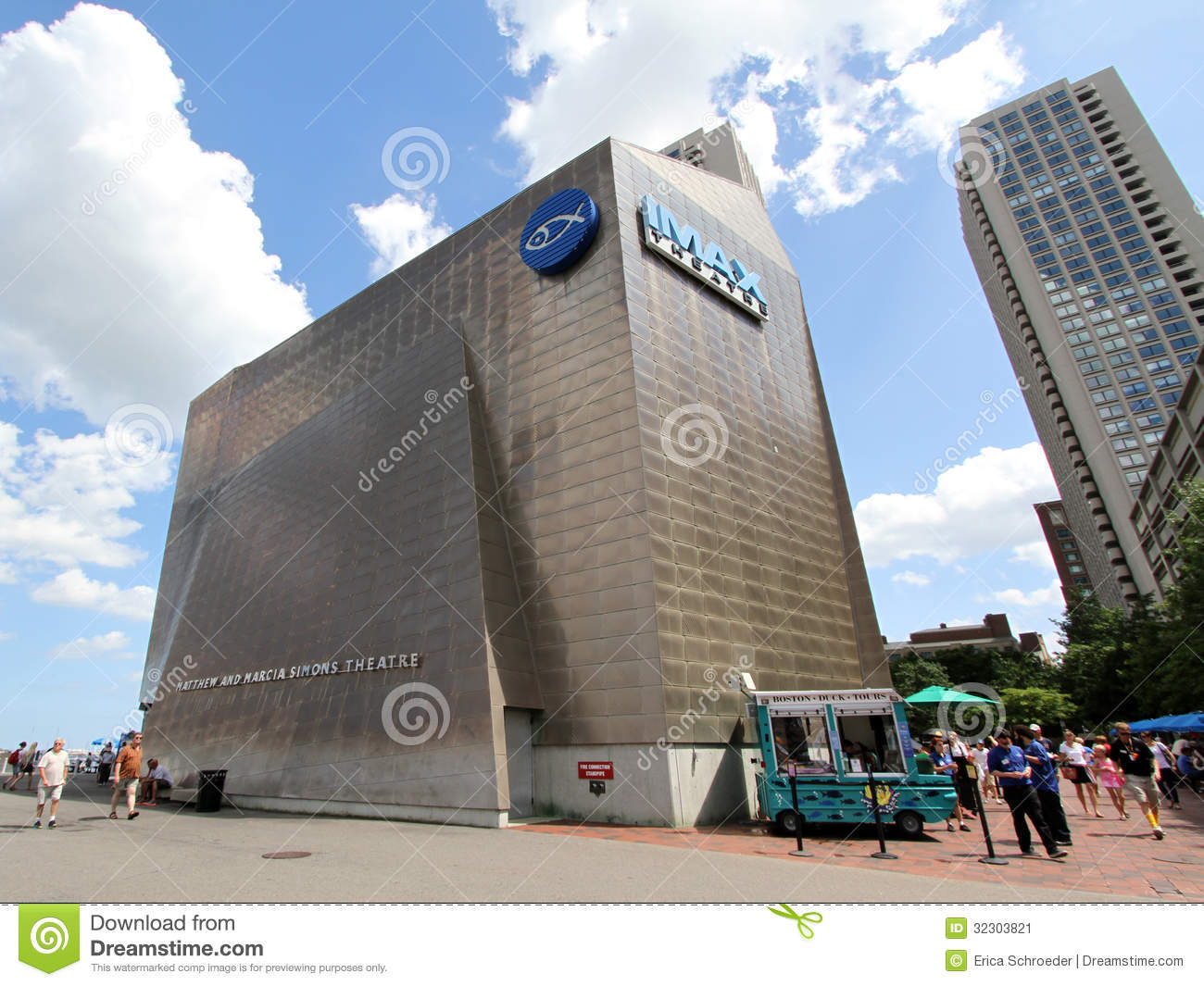 New England Aquarium Imax Theater Boston Editorial Photo