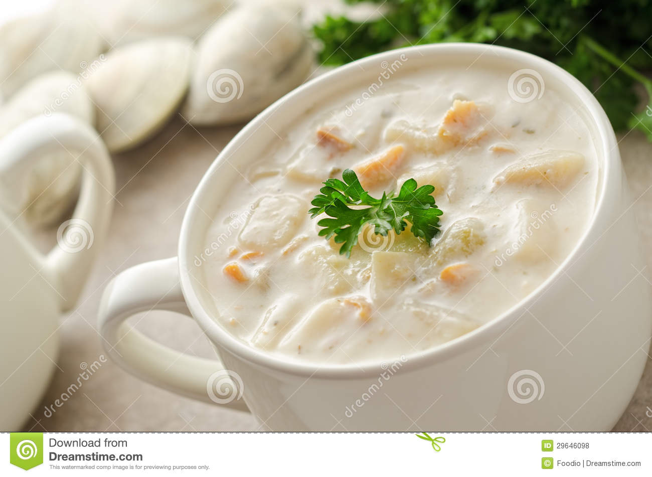 New England Clam Chowder Royalty Free Stock Photos - Image: 29646098