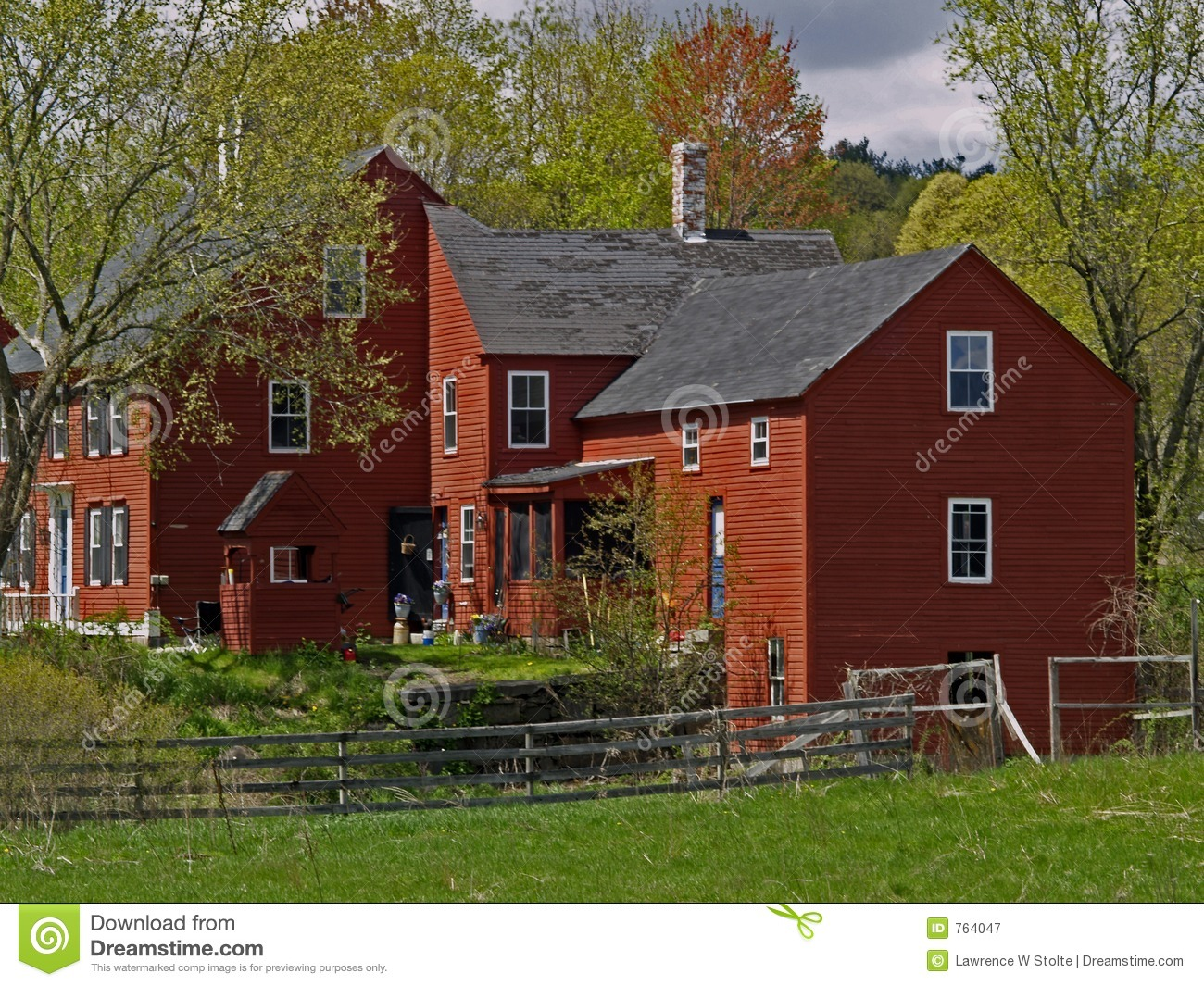 New England Farm House Stock Image Image Of Homestead