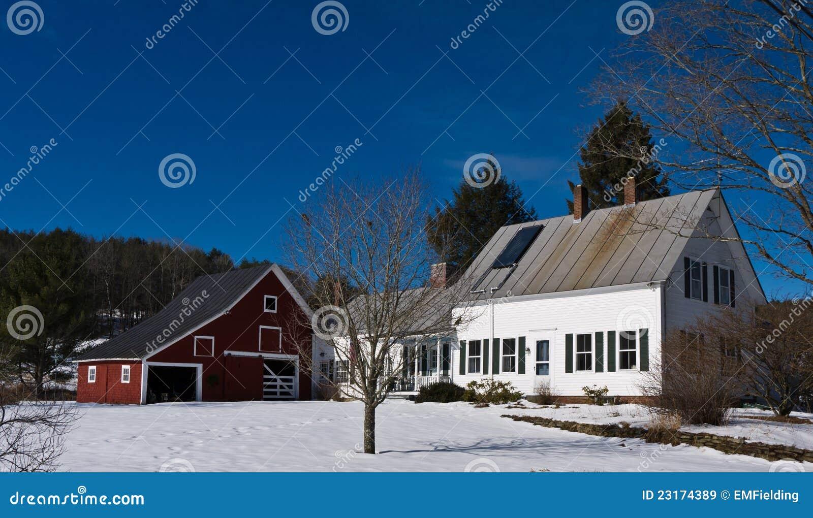 New England Farm House Barn Stock Image - Image: 23174389