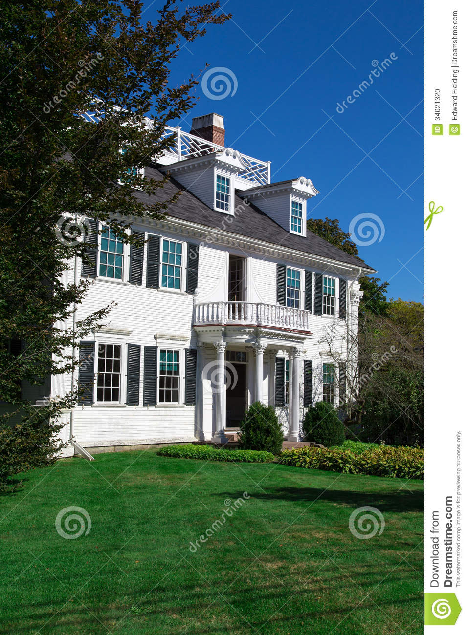 New England Historic Mansion Stock Photo Image 34021320