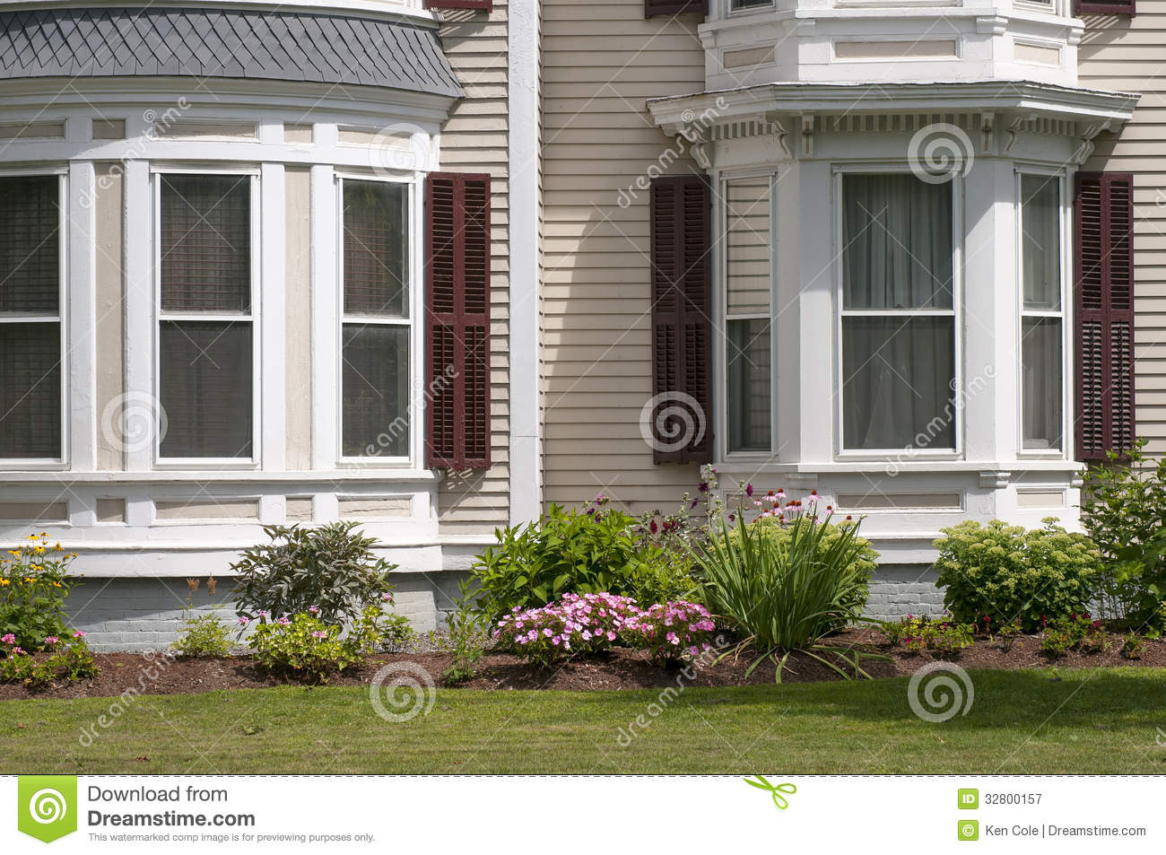 New england house windows stock image image of annuals for Windows for my house