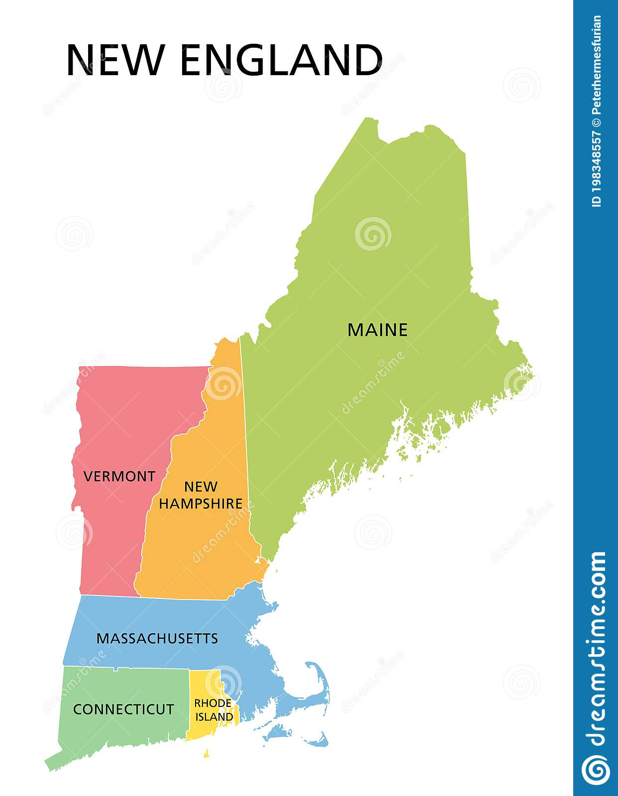 Image of: New England Map Stock Illustrations 728 New England Map Stock Illustrations Vectors Clipart Dreamstime