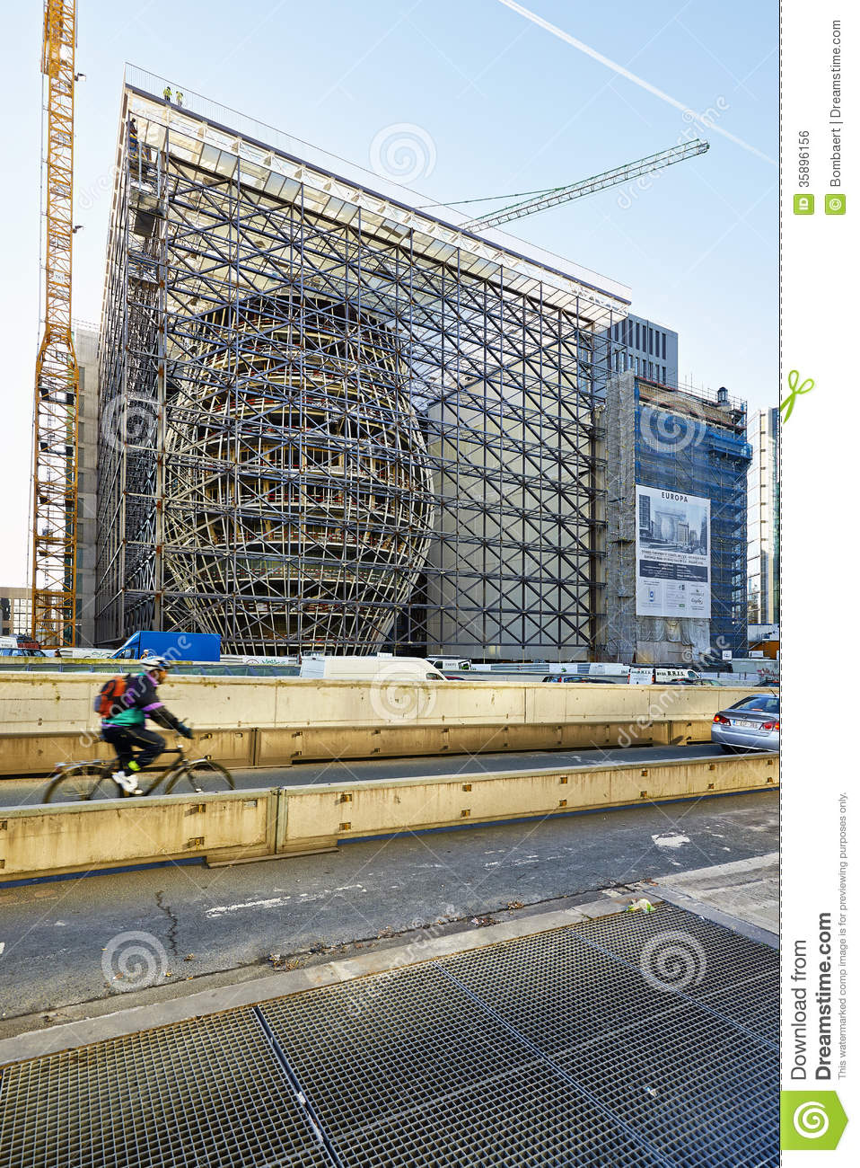 the new europa building construction editorial photo