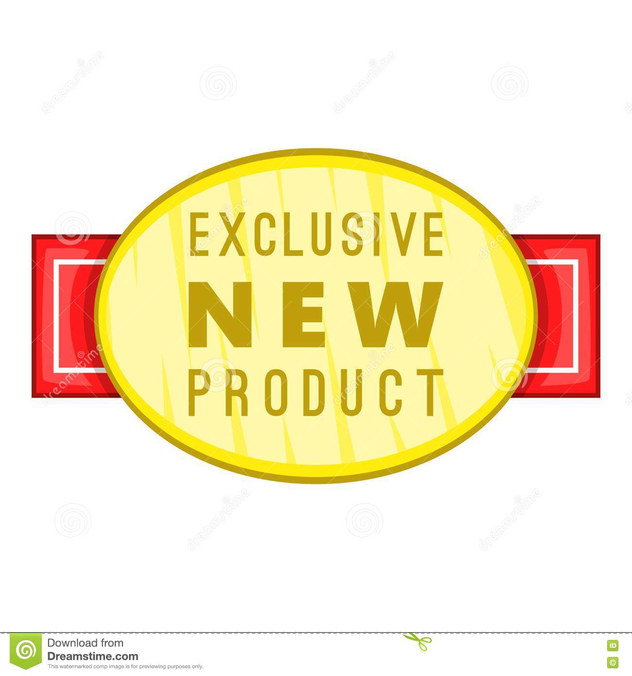 New Exclusive Product Label Icon, Cartoon Style Cartoon
