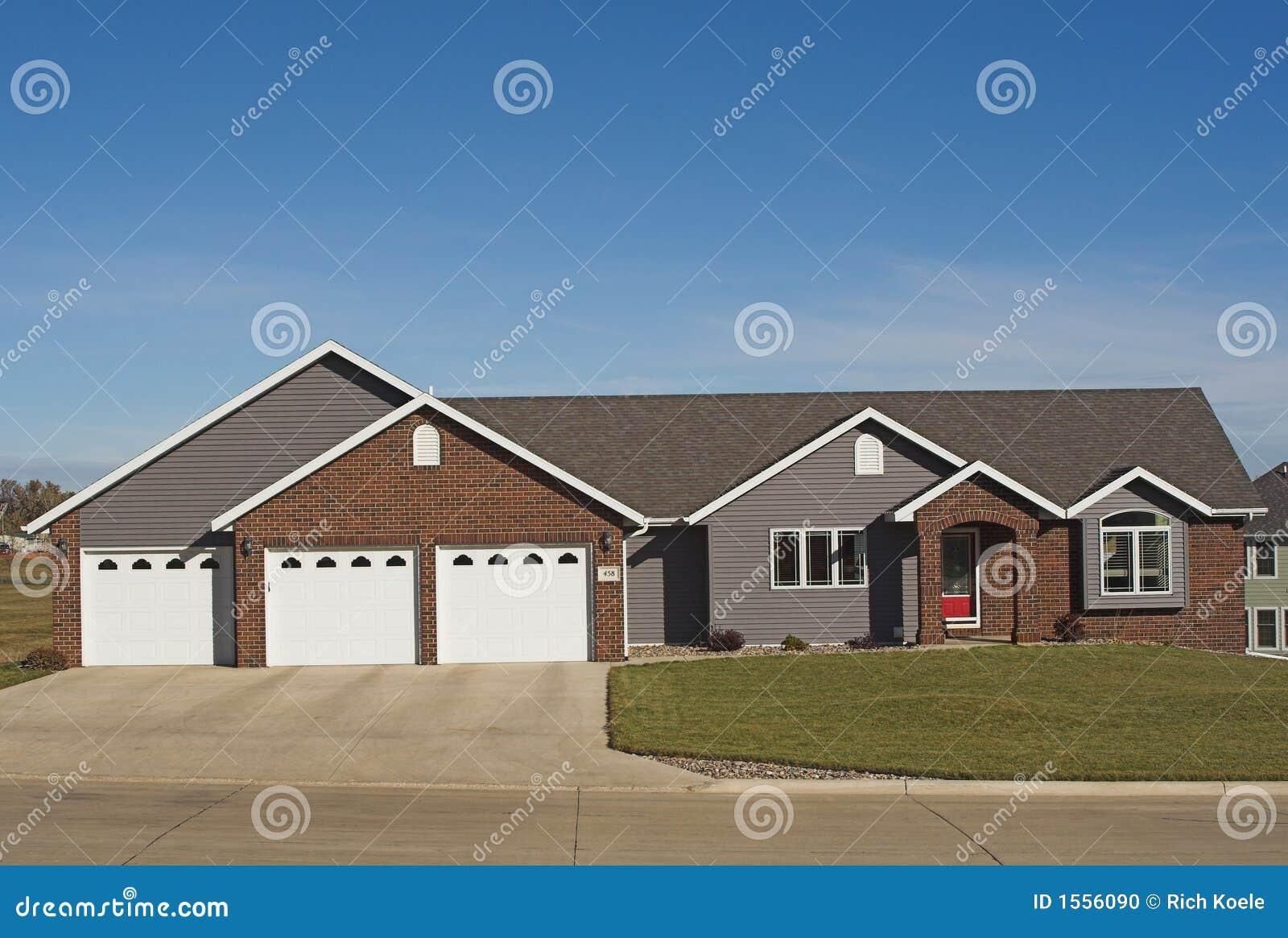 New executive ranch home stock photo image 1556090 for Executive ranch homes