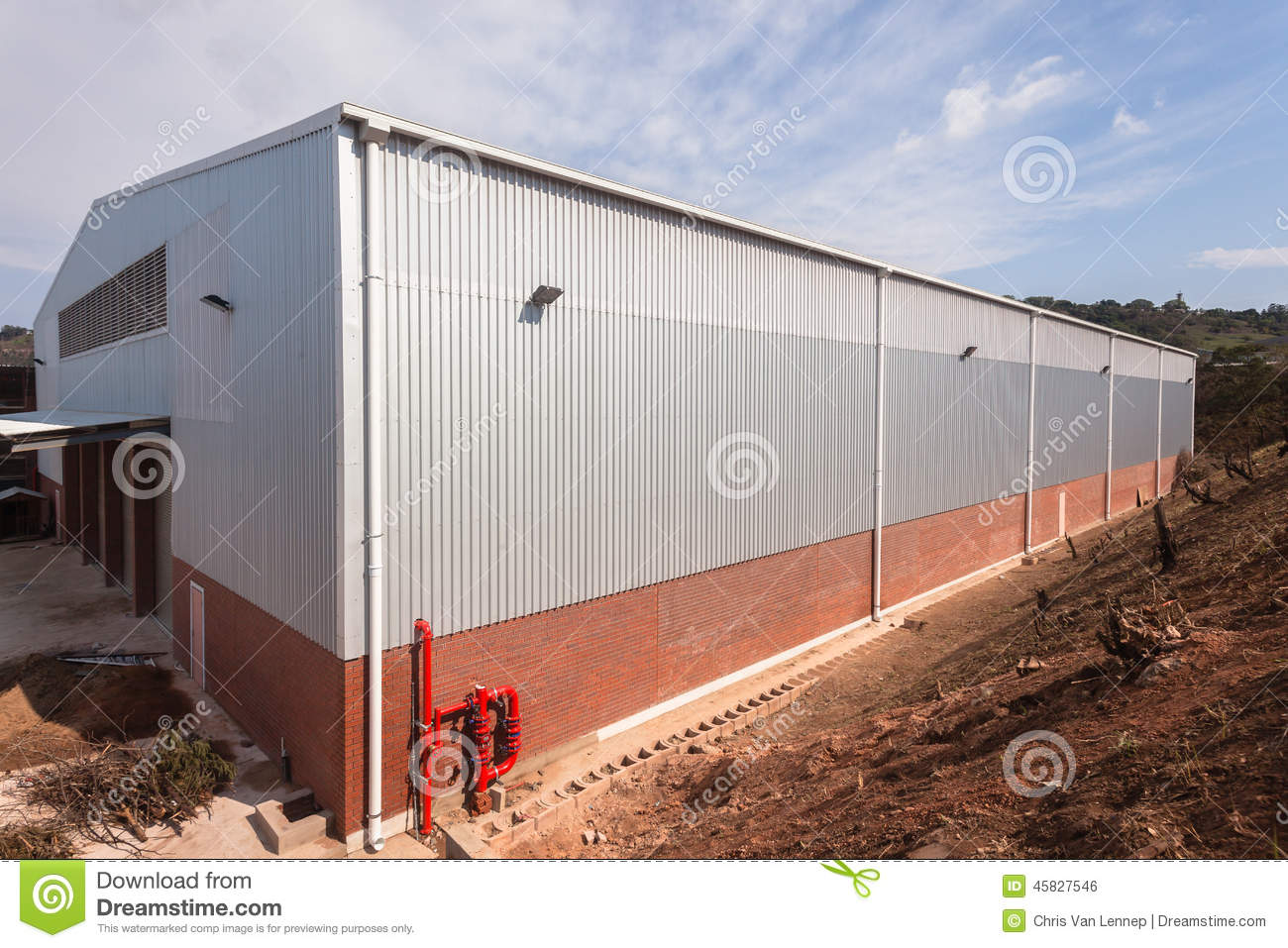 New Factory Warehouse Building
