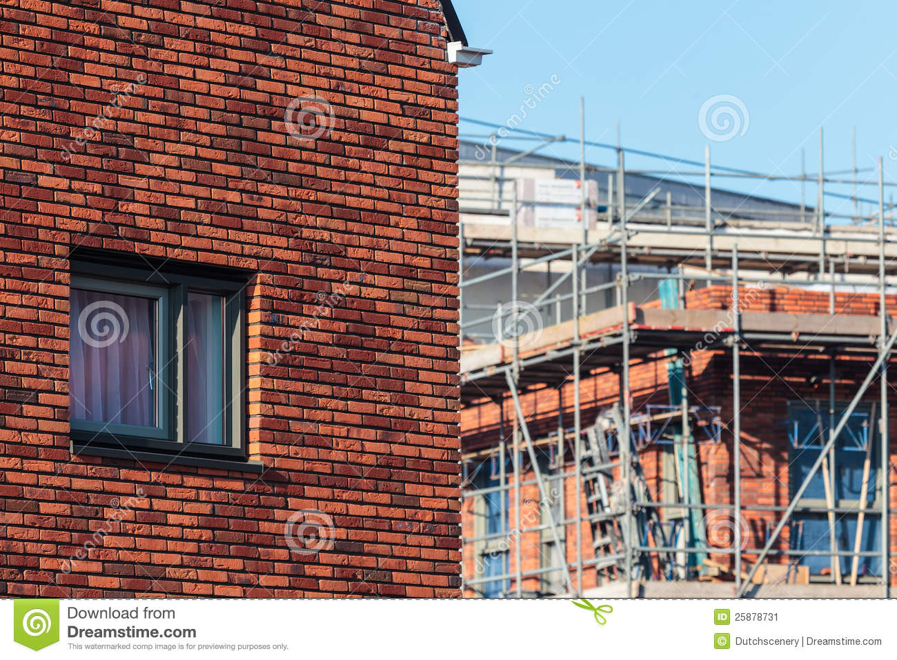 New family house with construction site royalty free stock for Building site house