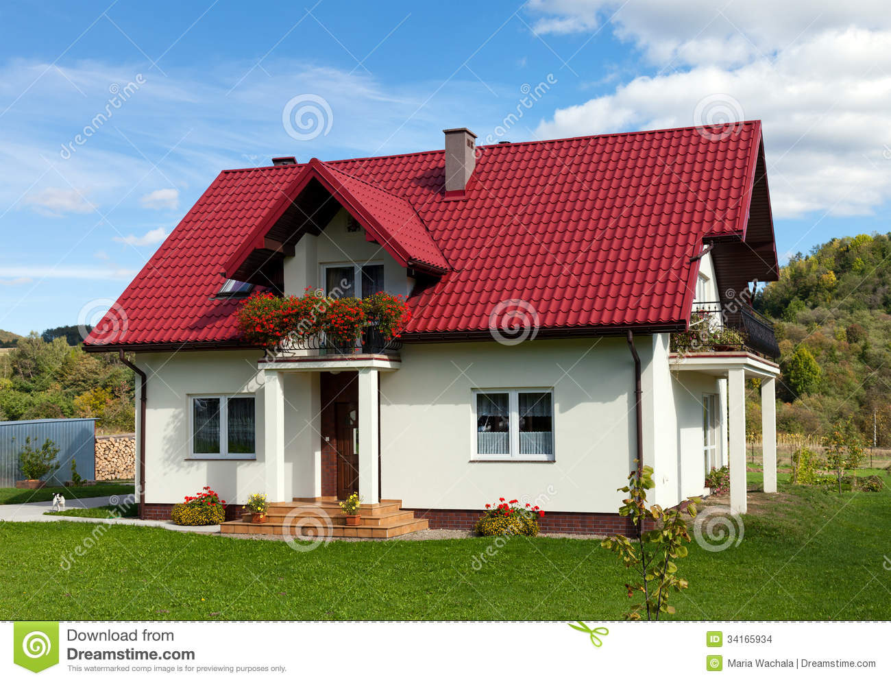 New family house stock photo image of home environment 34165934 - Houses attic families children ...