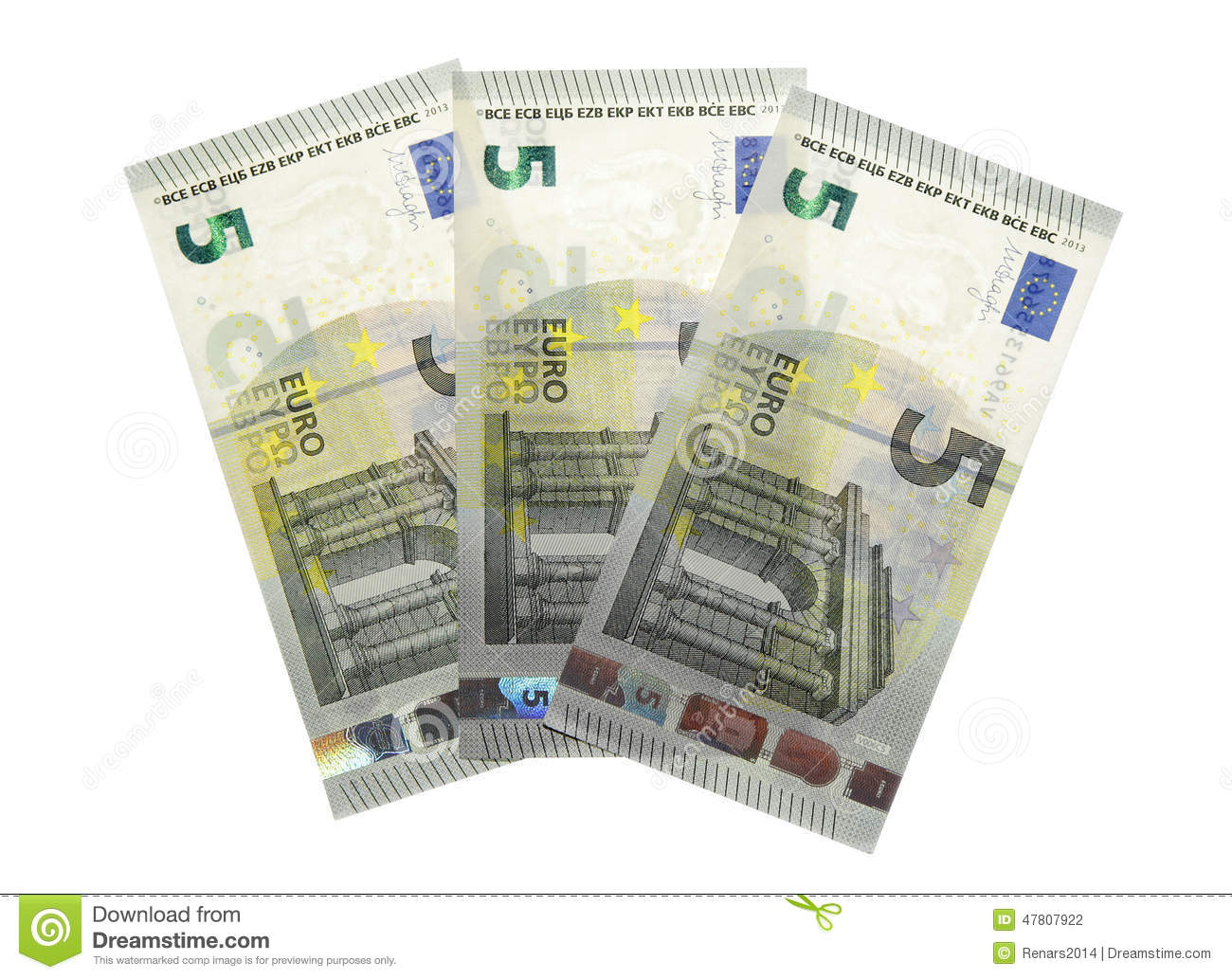 new five 5 euro banknote greenback paper money stock photo image 47807922. Black Bedroom Furniture Sets. Home Design Ideas