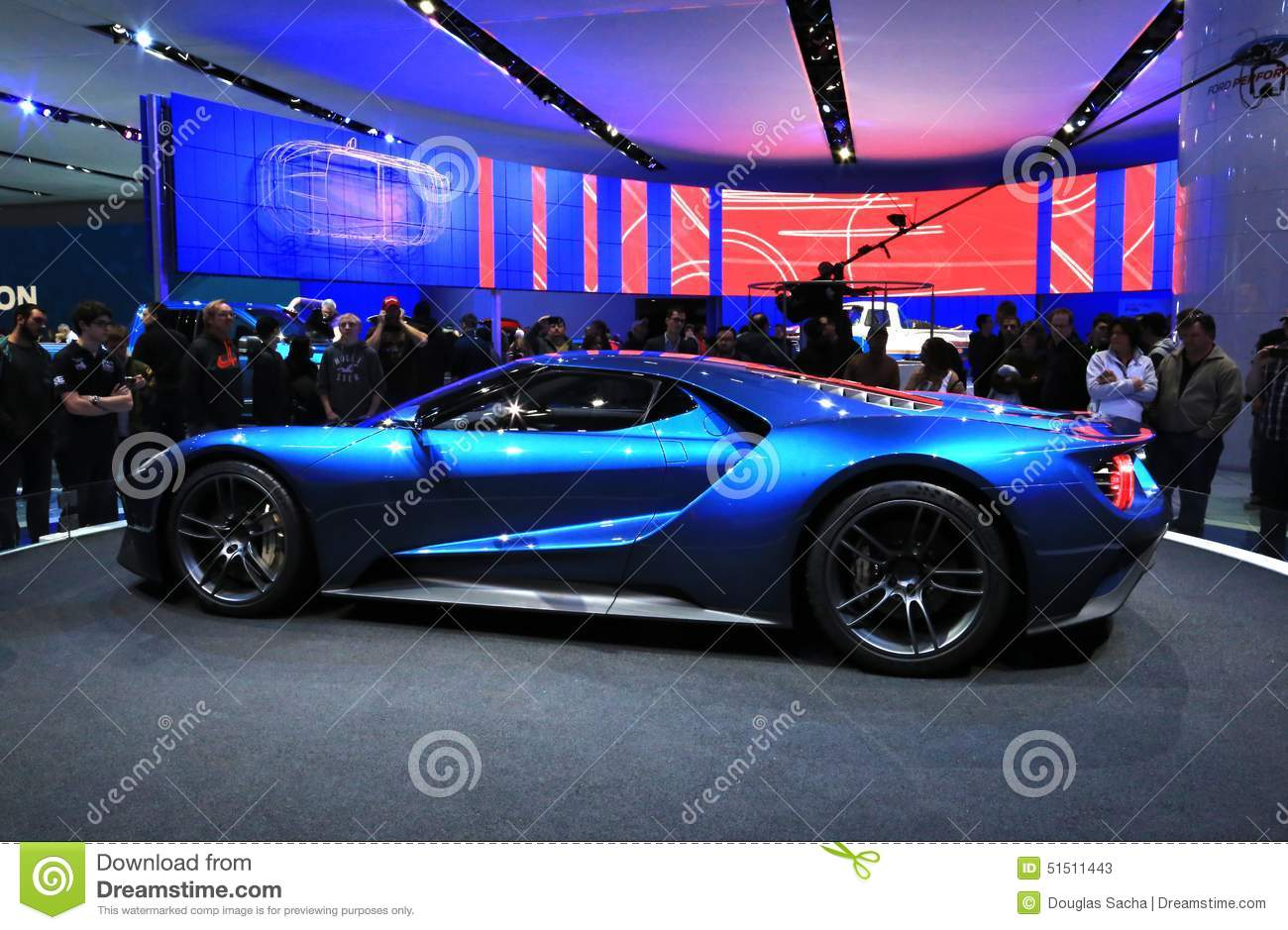 New Ford Gt At The Naias