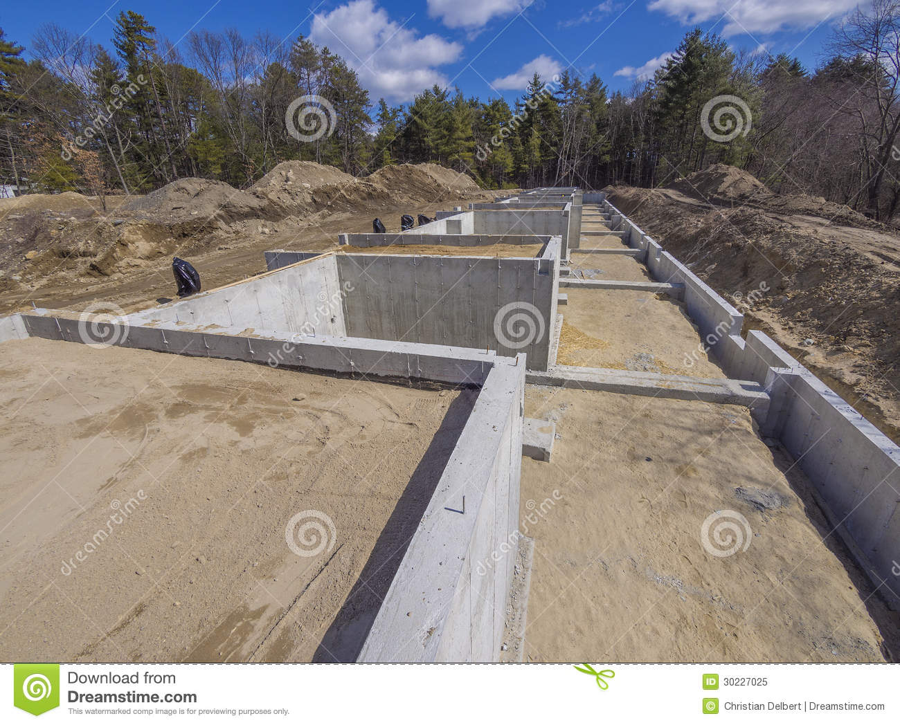 new house foundation royalty free stock photo image