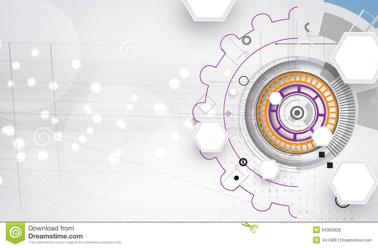 New future technology concept abstract background