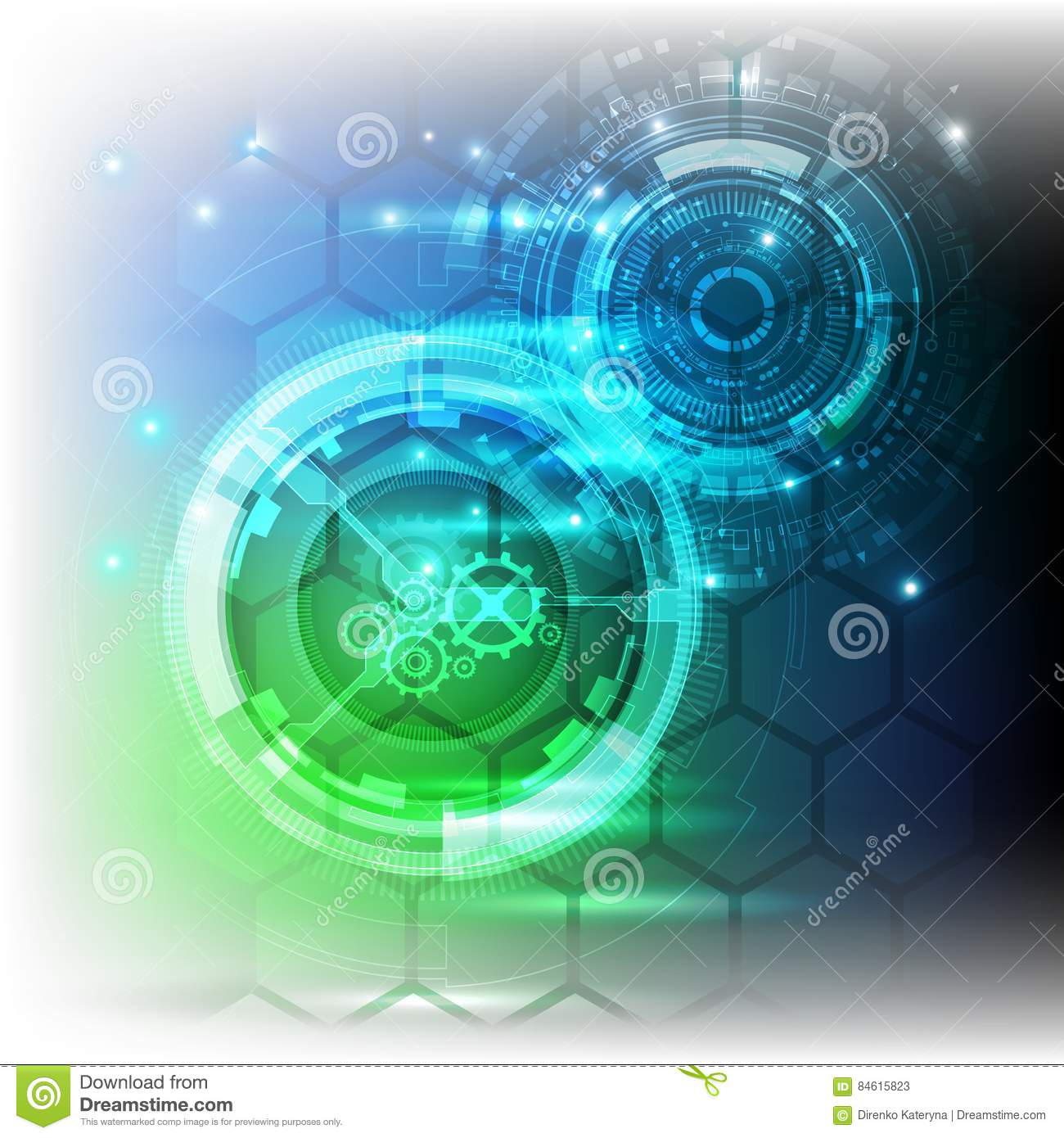 New future technology concept abstract background for business solution