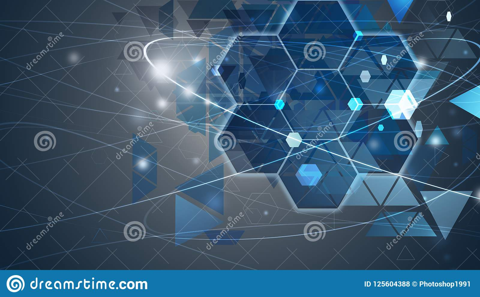 New future technology concept background concept for business solution blue