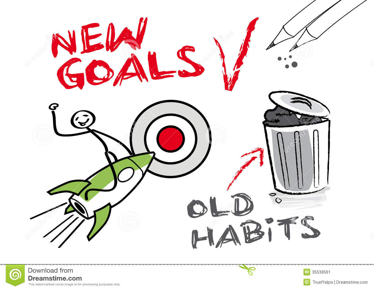 New Year Goals Clip Art
