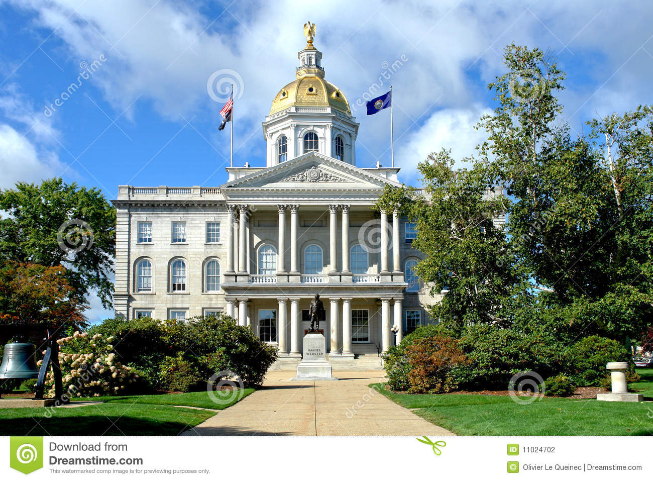 New Hampshire State Capitol Building In Concord Nh Stock