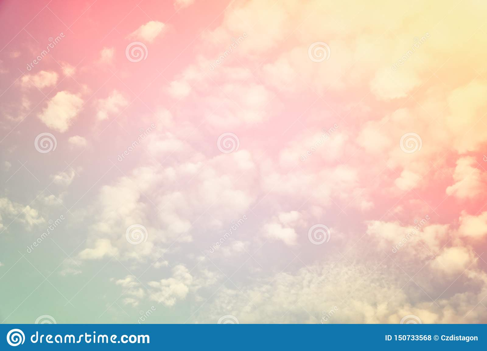 A new heaven and earth concept: Dramatic sun ray with orange sky and clouds dawn texture background.