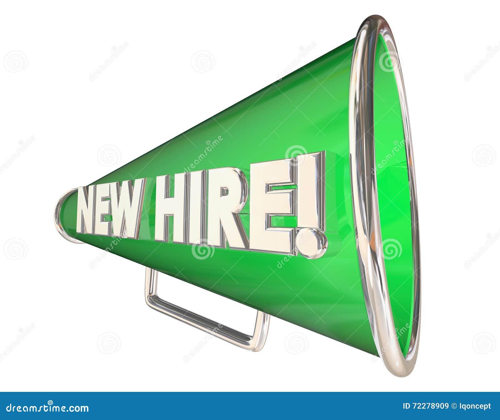 New hire bullhorn megaphone employee welcome stock illustration new hire bullhorn megaphone employee welcome m4hsunfo