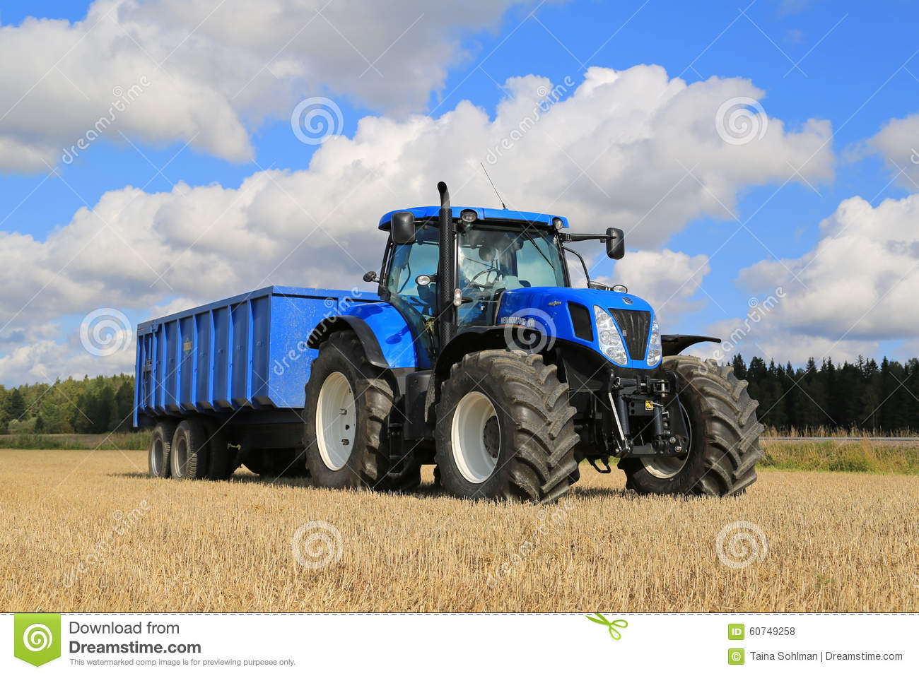 New Holland Tractor People : New holland t tractor and agricultural trailer on