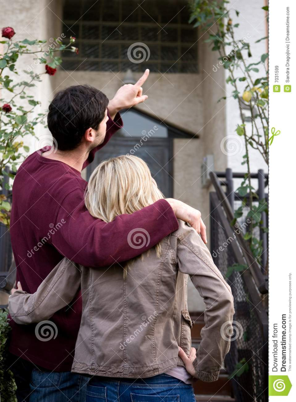 New home royalty free stock images image 7031599 - Young couple modern homes ...