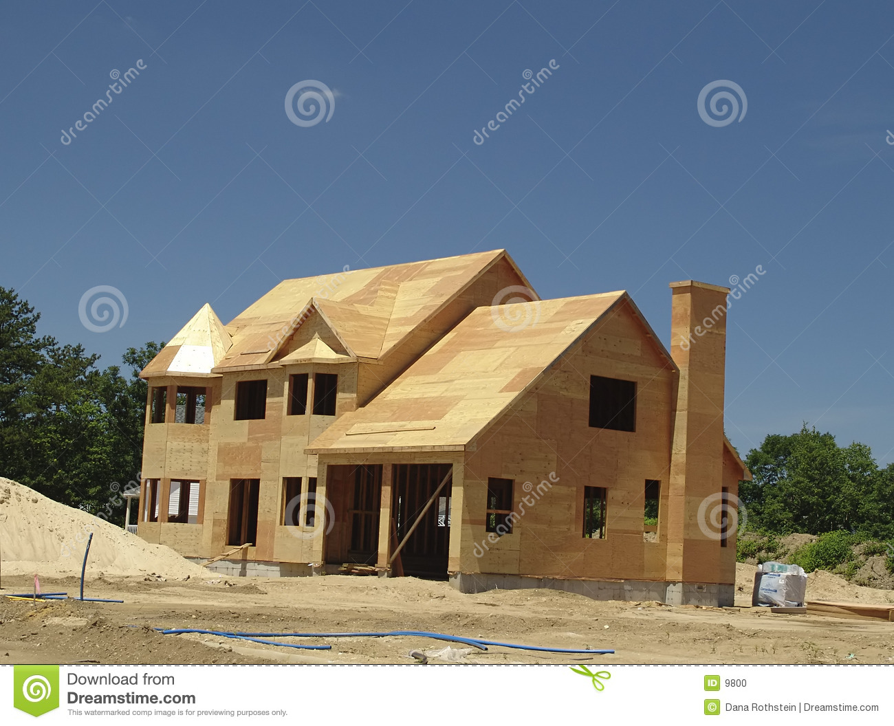 New home being built stock photo image 9800 for Houses that can be built for under 150k