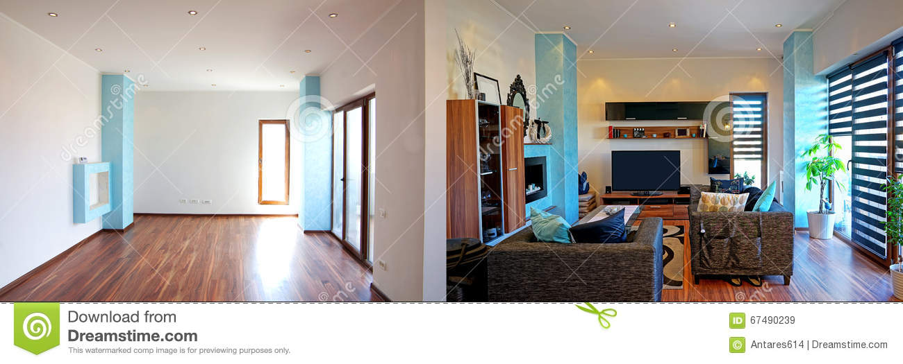 New home stock image. Image of clean, light, interior