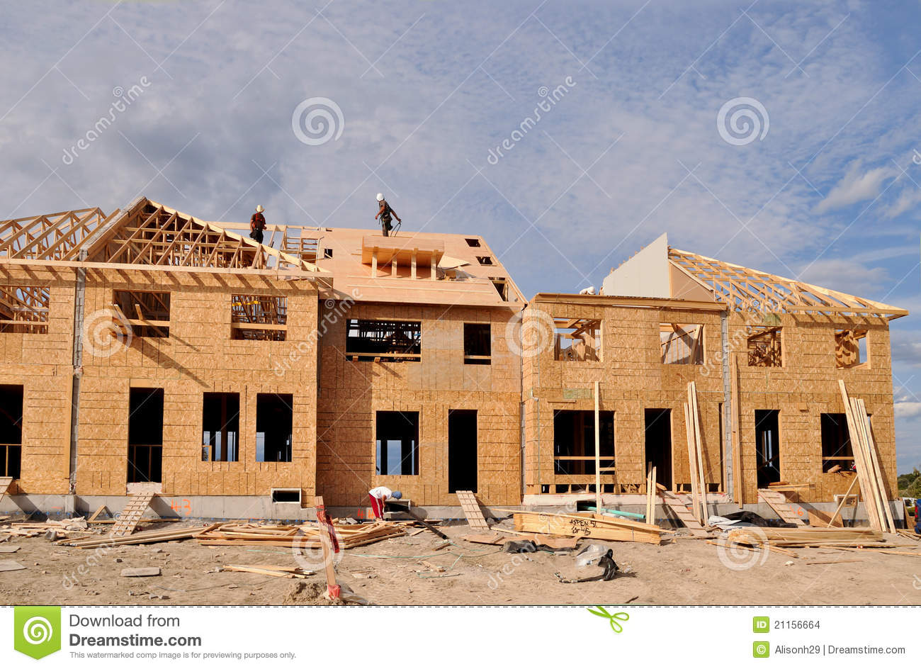New Home Construction Stock Images Image 21156664