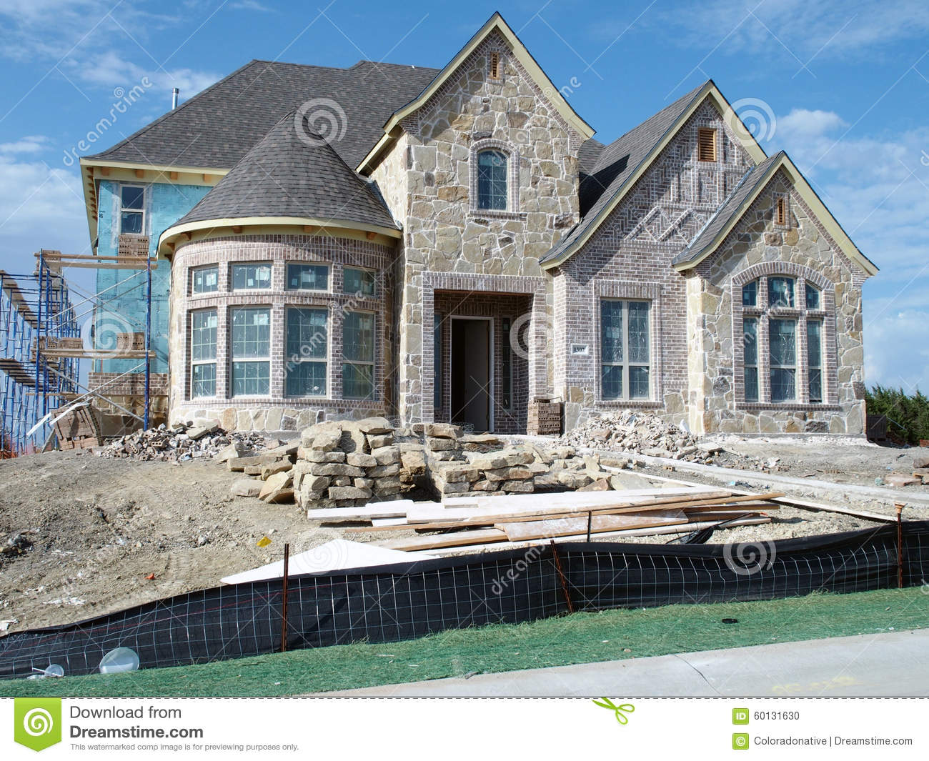 New home construction stock photo image 60131630 Modern home construction
