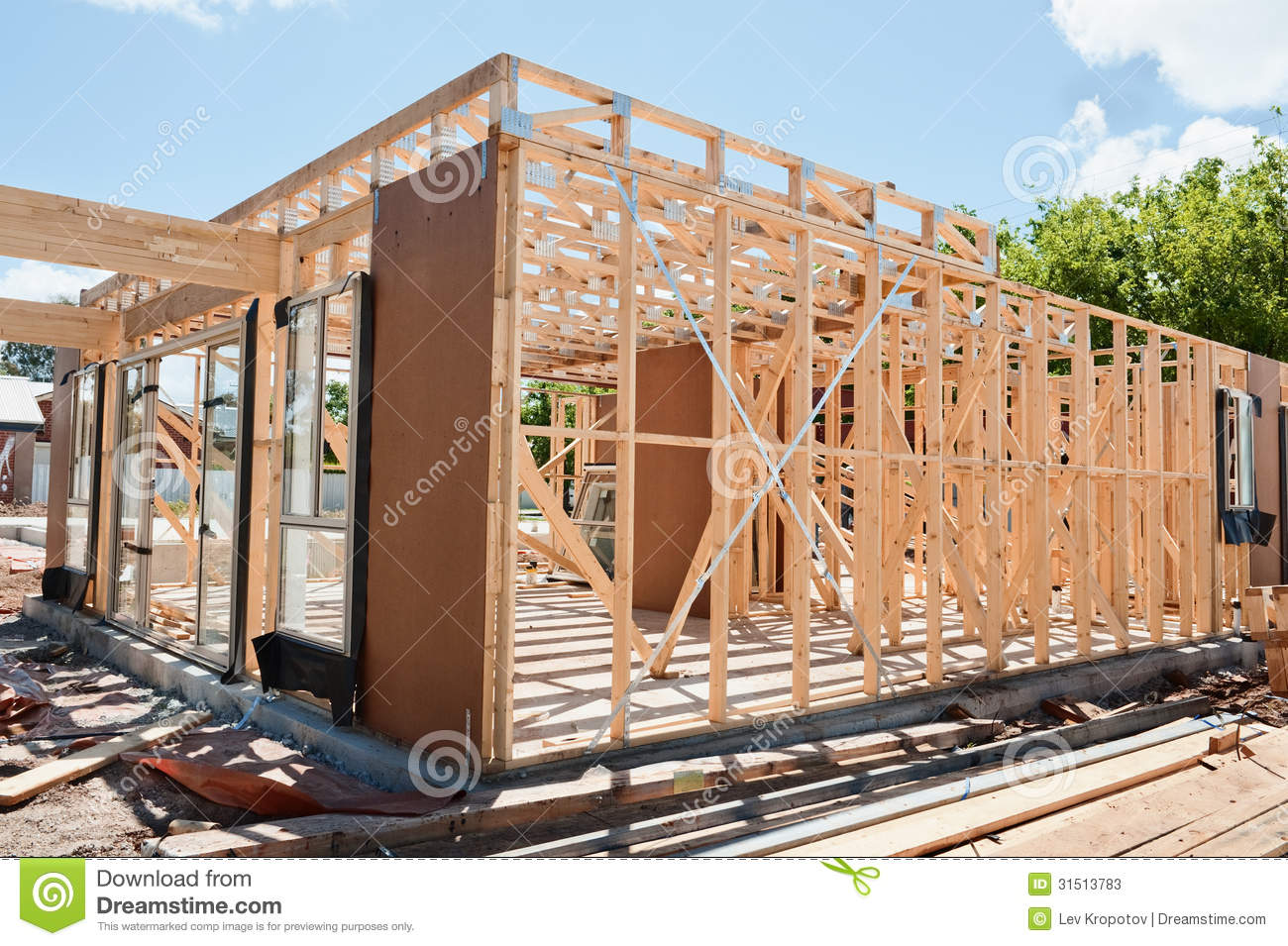 New Home Construction Framing Stock Photos Image 31513783