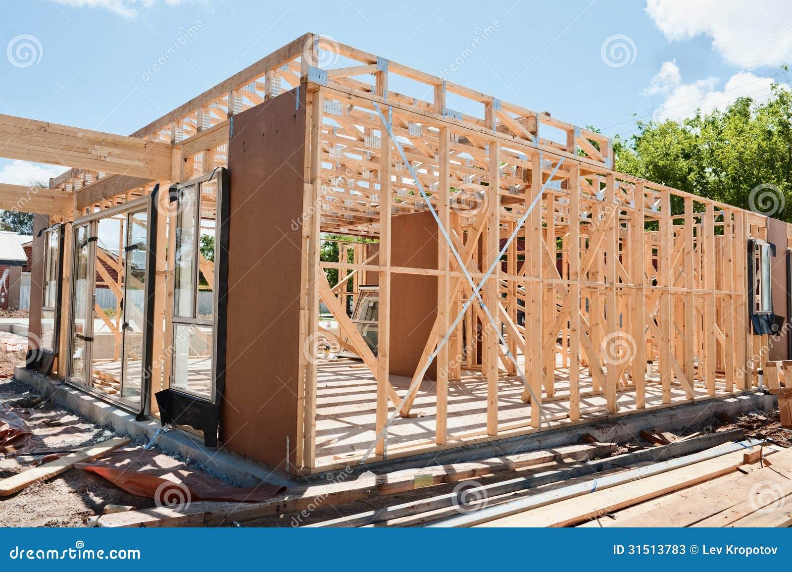 Фотообои - Новое строительство каркасного дома