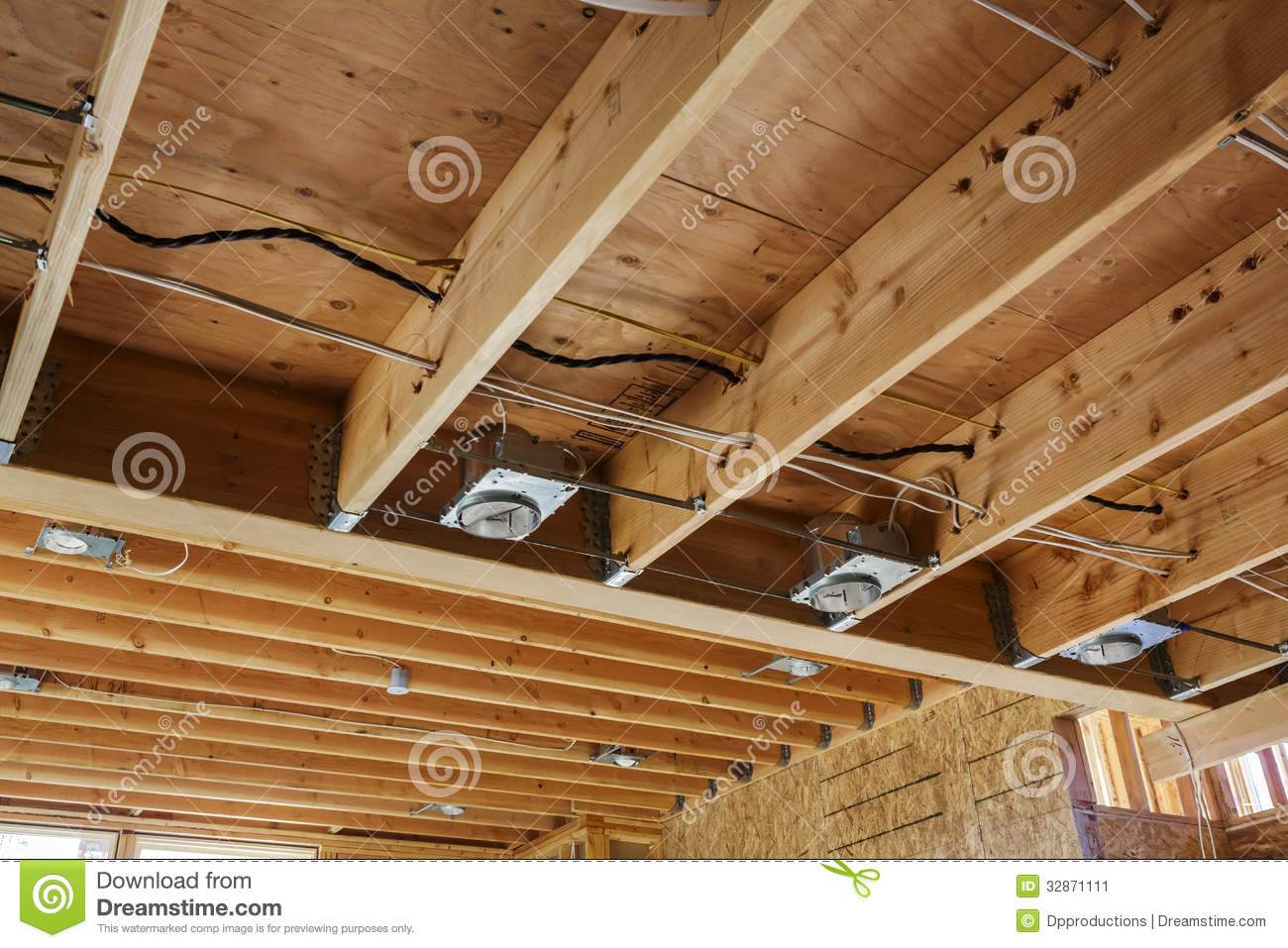 new home construction lights and ceiling detail stock image image 32871111
