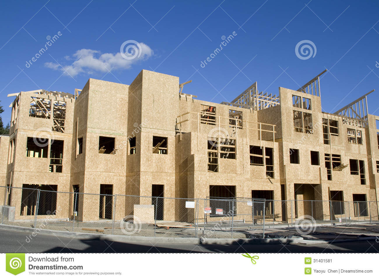 New home construction stock image image 31401581 for New home builders in seattle area